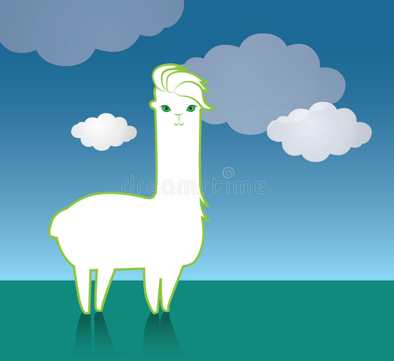 Śliczny Lama charakter ilustracji