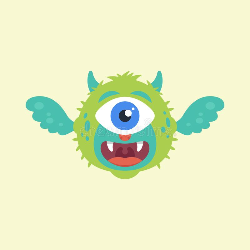 Śliczny latający potwór ilustracji