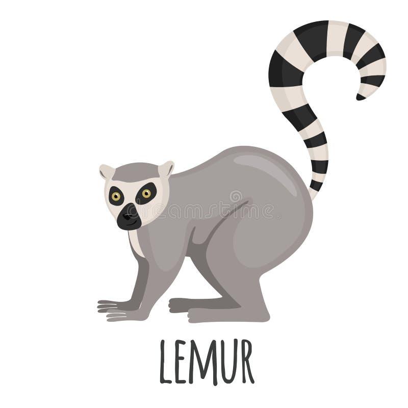 Śliczny lemur w mieszkanie stylu ilustracji