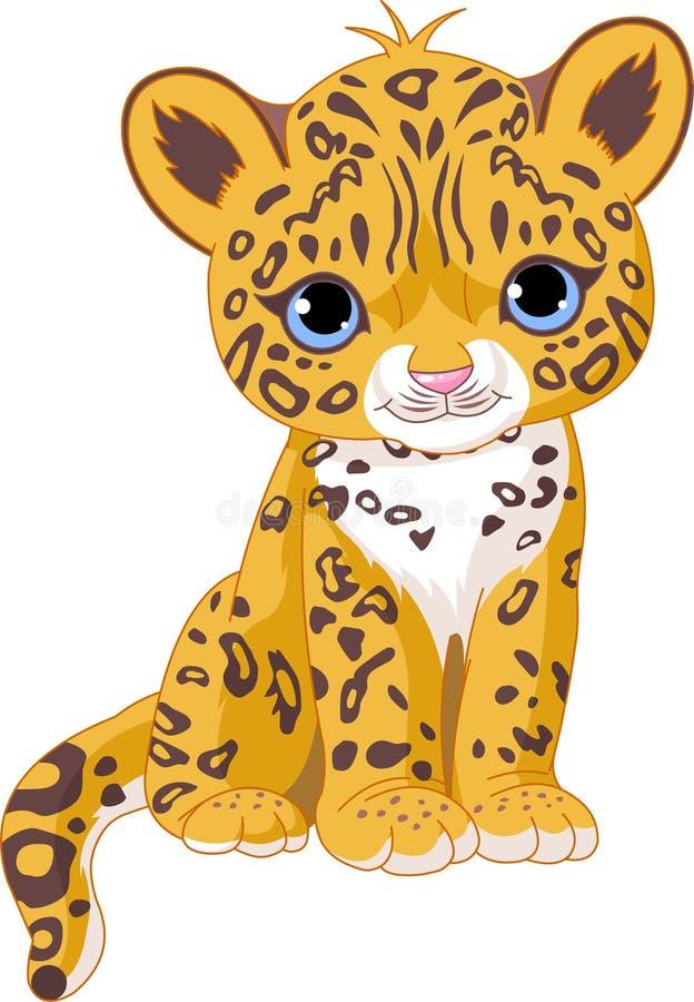 śliczny lisiątko jaguar ilustracji