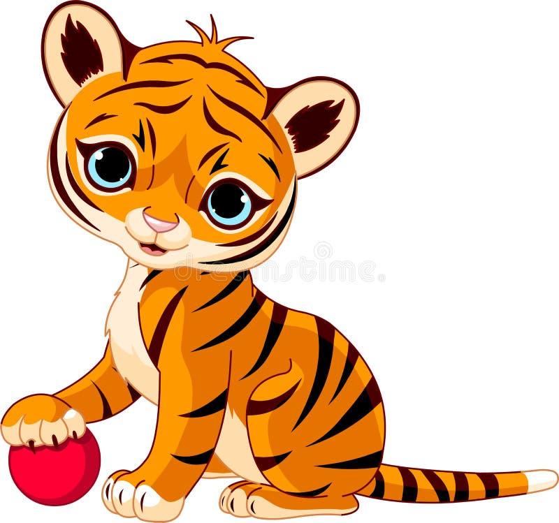 śliczny lisiątko tygrys ilustracji
