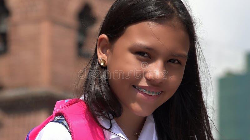 Śliczny Młody Kolumbijski uczeń zdjęcie stock