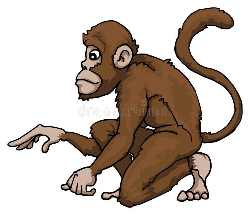 Śliczny małpi charakter ilustracja wektor