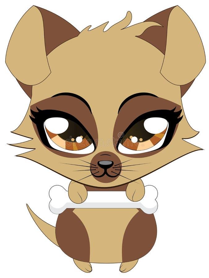 Śliczny mały brown szczeniak royalty ilustracja