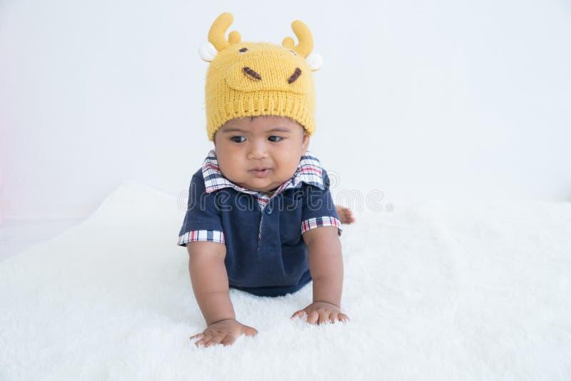 Śliczny mały dziecka zaparcie fotografia royalty free
