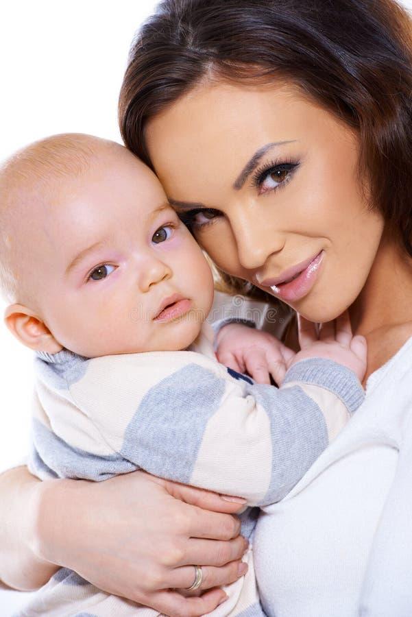 Śliczny mały dziecko z Mum obraz royalty free