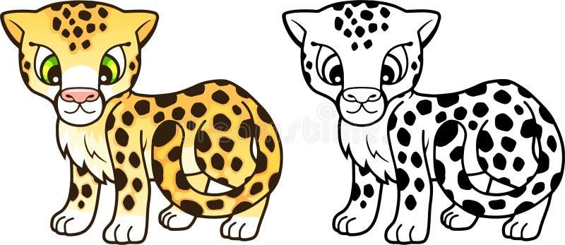 Śliczny mały gepard, projektuje śmieszną ilustrację royalty ilustracja