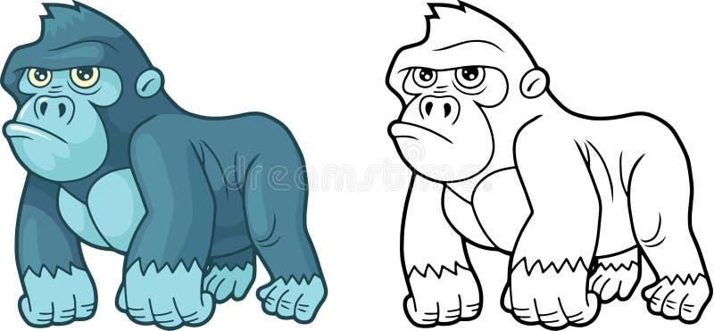 Śliczny mały goryl, projektuje śmieszną ilustrację ilustracji