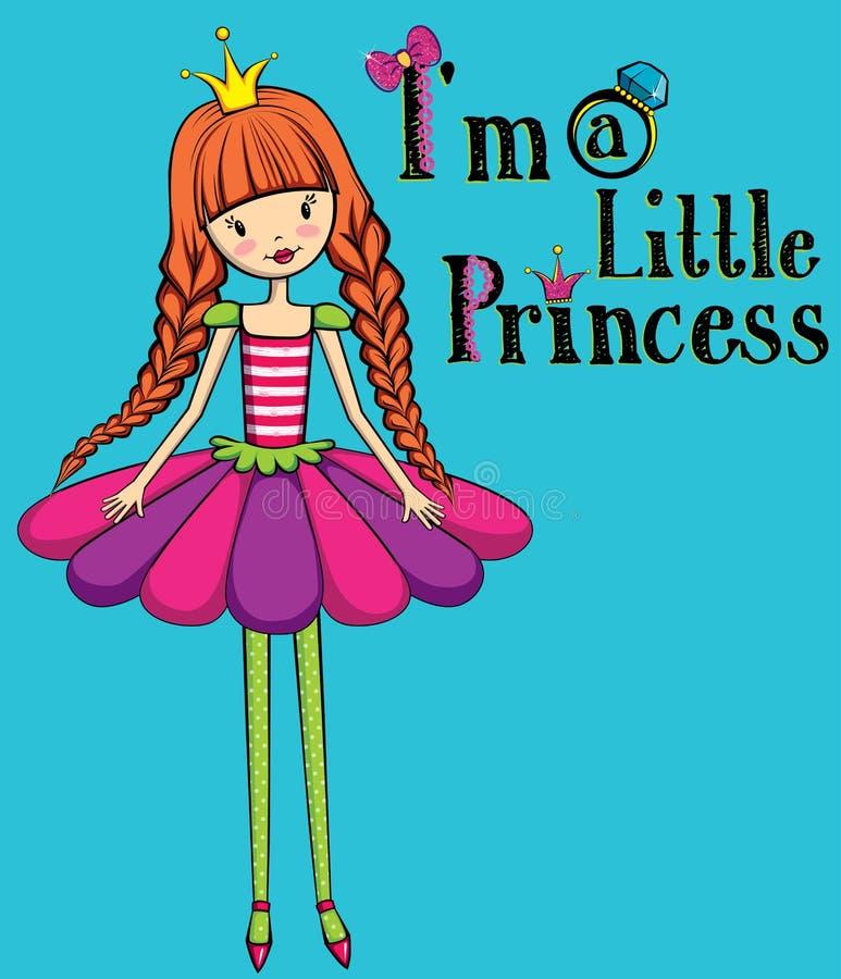 śliczny mały młody Princess obrazy stock