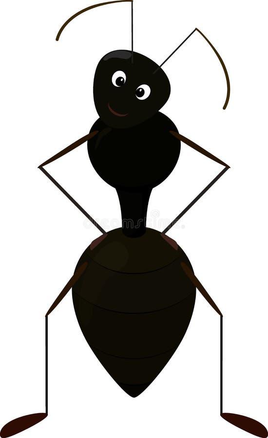Śliczny mrówki postać z kreskówki royalty ilustracja