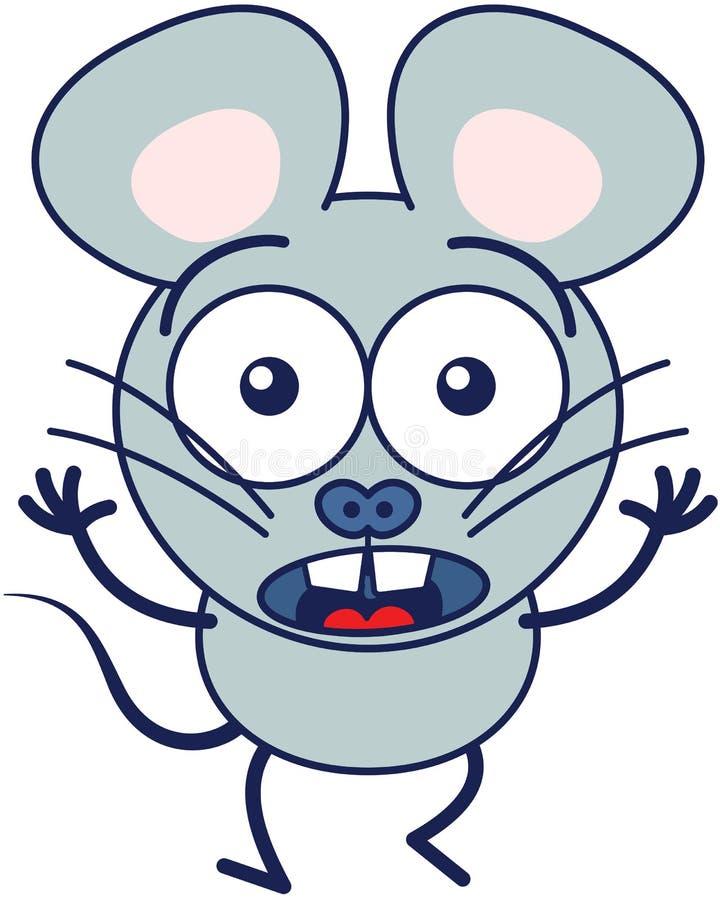 Śliczny myszy uczucie okaleczający ilustracja wektor