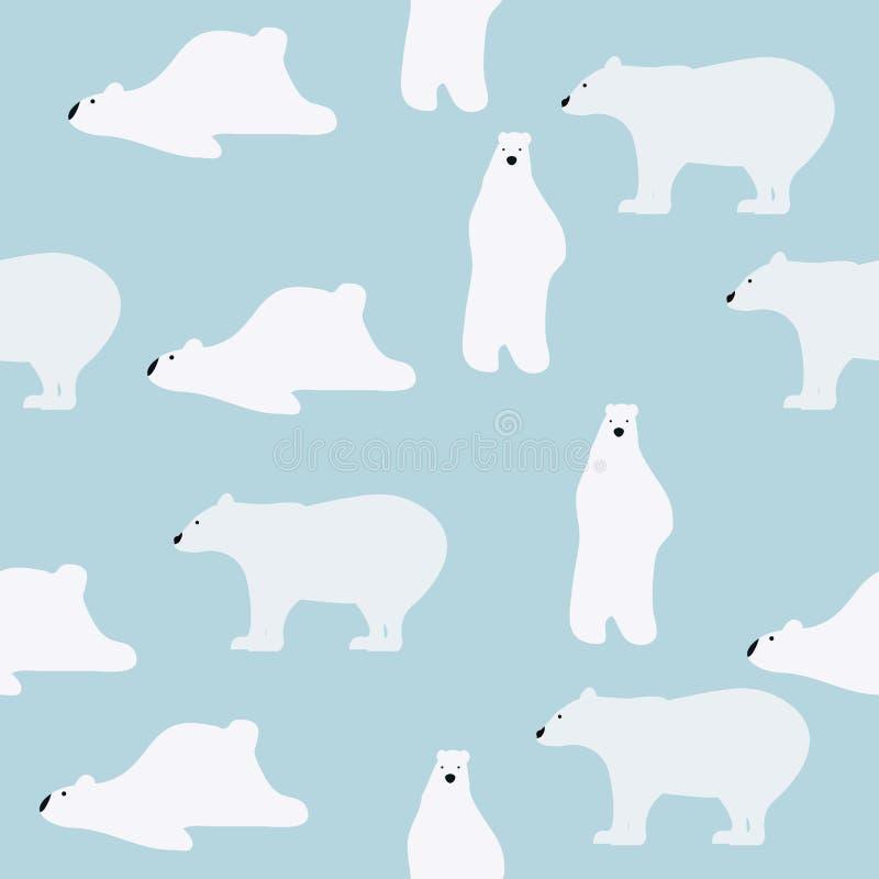 Śliczny niedźwiedzia polarnego wzór ilustracji