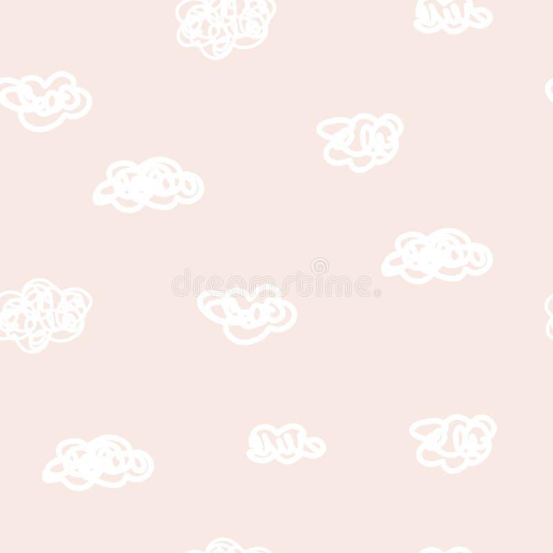 Śliczny nowożytny abstrakcjonistyczny rocznika wzór w scandinavian stylu Pastelowa pepiniery tapeta z prostymi kształtami Wektor  royalty ilustracja