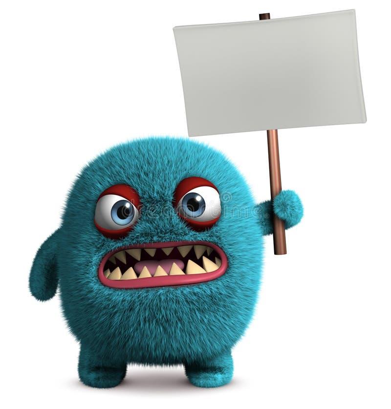 Śliczny owłosiony potwór ilustracji
