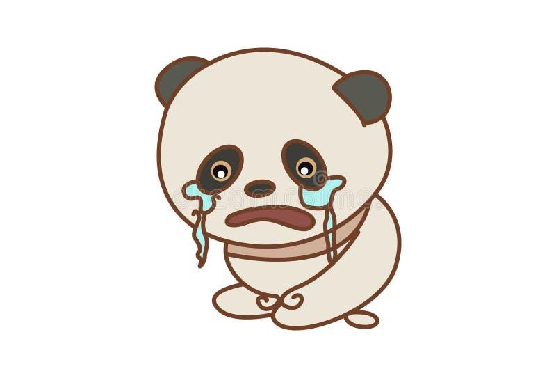Śliczny panda płacz royalty ilustracja