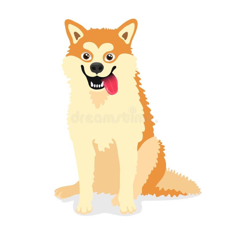 Śliczny pies trakenu Akita inu ilustracji