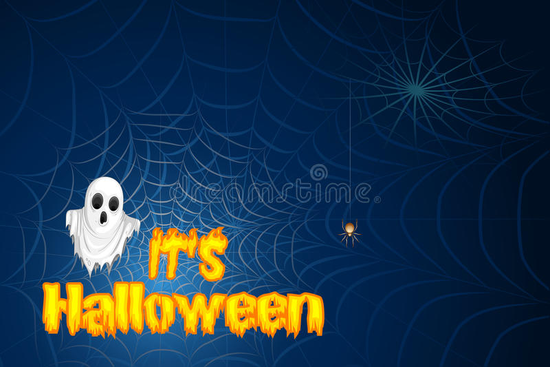 Śliczny potwór życzy Szczęśliwego Halloween ilustracji