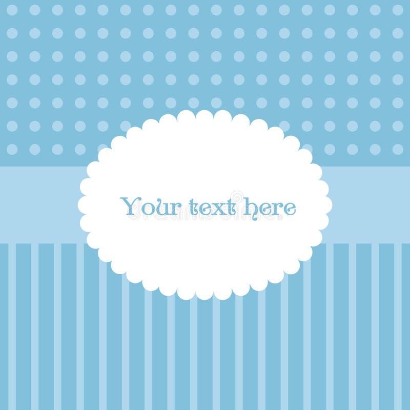 Download Śliczny Prosty Kartka Z Pozdrowieniami W Błękitnych I Bielu Kolorach Ilustracja Wektor - Ilustracja złożonej z eventide, pocztówka: 57671370