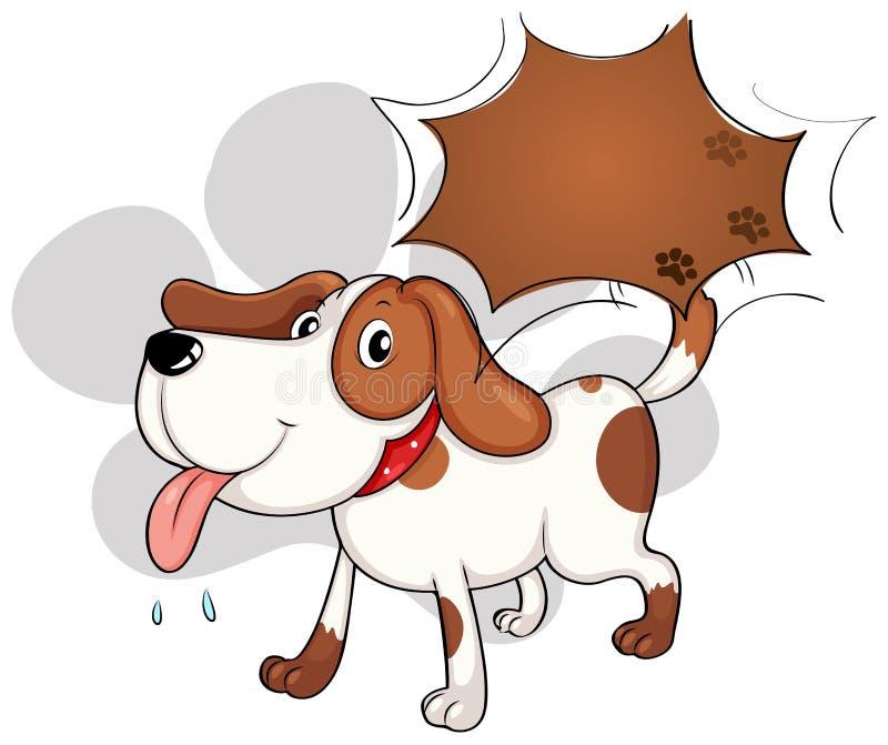 Śliczny psi dyszeć royalty ilustracja