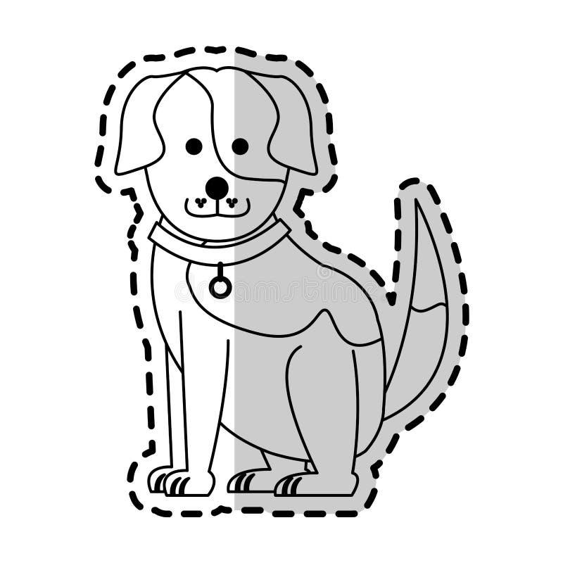 śliczny psi kreskówki ikony wizerunek ilustracji