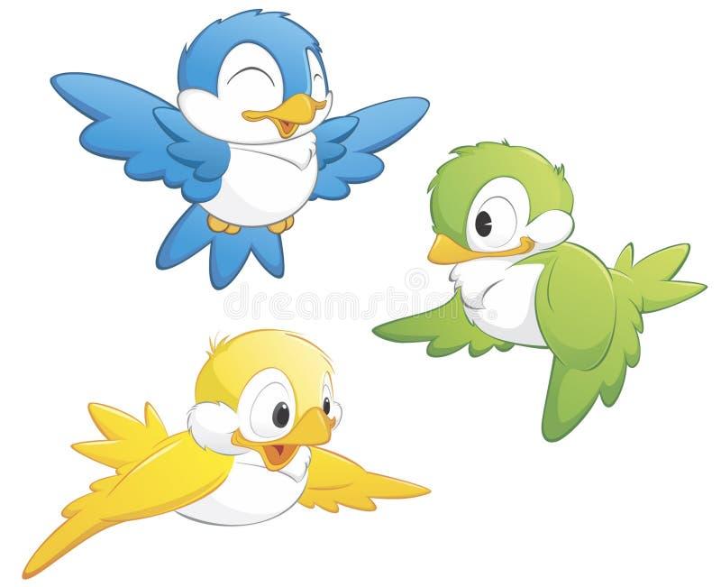 śliczny ptaka set royalty ilustracja
