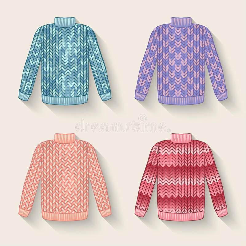 Śliczny puloweru set ilustracja wektor