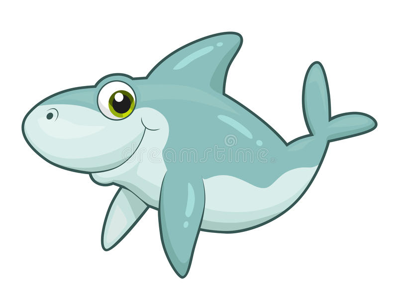 Śliczny rekin ilustracja wektor