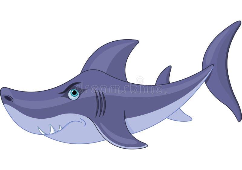 Śliczny rekin ilustracji