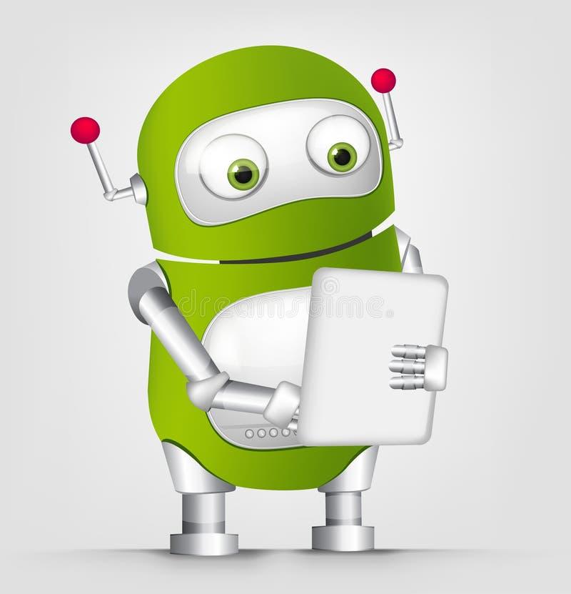 Śliczny Robot ilustracja wektor