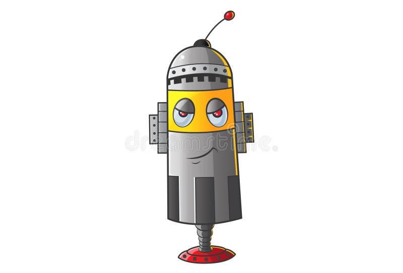 Śliczny robot Dokuczający royalty ilustracja