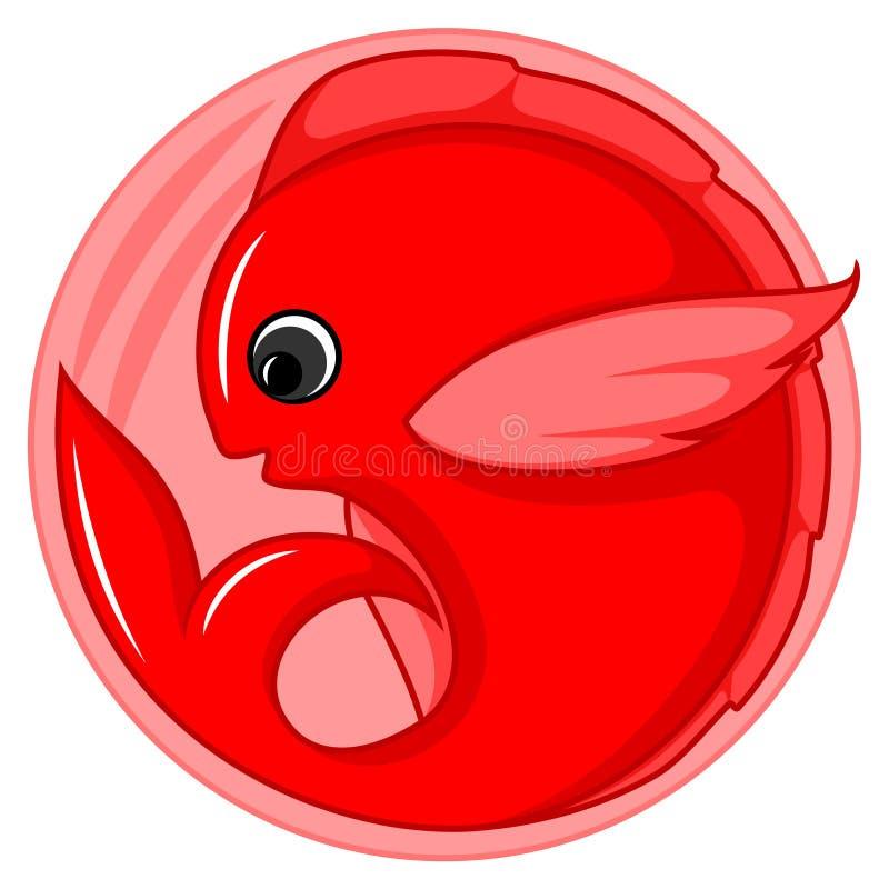 Śliczny rybi logo ilustracja wektor