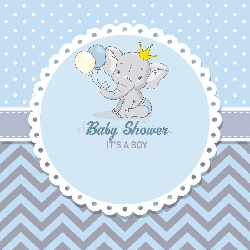 Śliczny słoń z balonami ilustracji