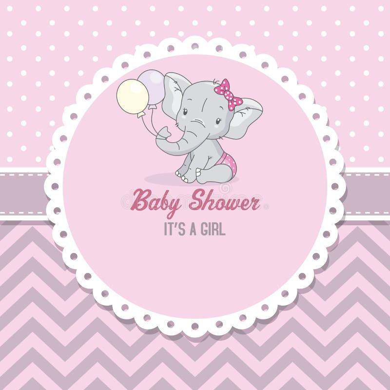 Śliczny słoń z balonami ilustracja wektor