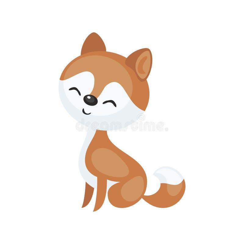 Śliczny sanie pies ilustracja wektor