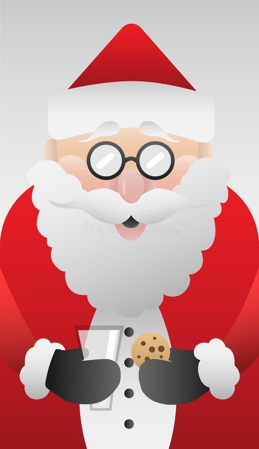 Śliczny Santa Claus z ciastko wektorem royalty ilustracja