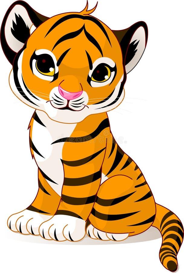 Śliczny tygrysi lisiątko ilustracja wektor