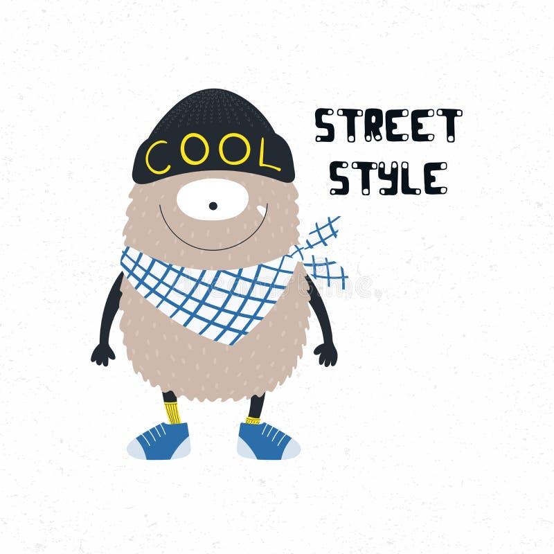 Śliczny ulica stylu potwór royalty ilustracja