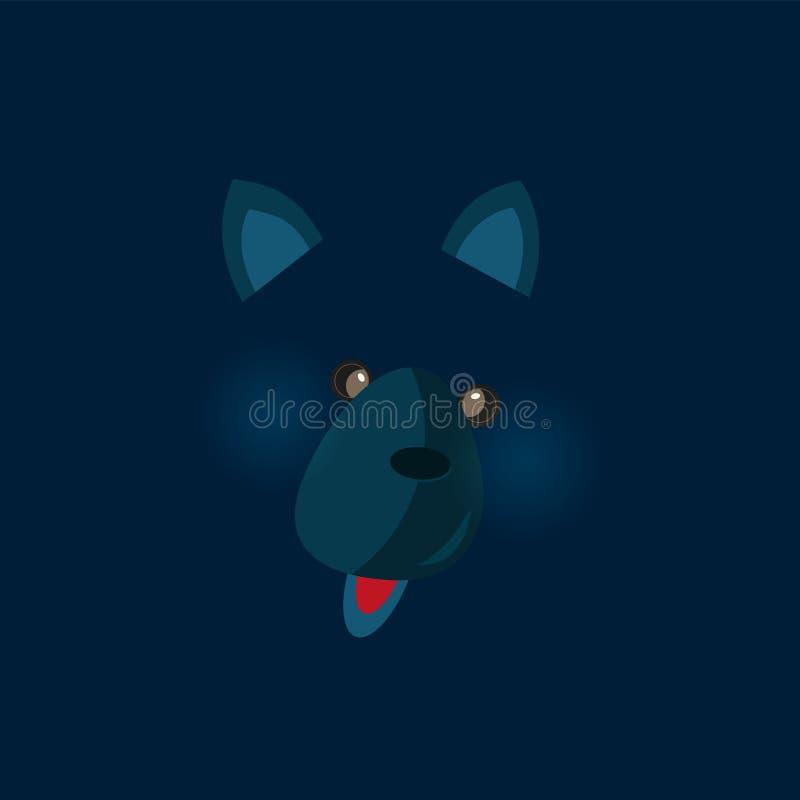 Śliczny urodzinowy dziecko majcher z zwierzętami wilczymi ilustracji