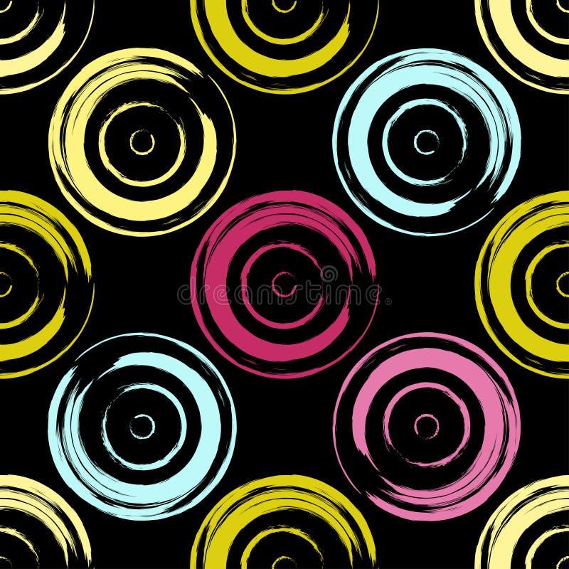 Śliczny wektorowy geometryczny bezszwowy wzór odszukany uderzenie abstrakcjonistyczna szczotkarska malująca istna tekstura był Po ilustracja wektor