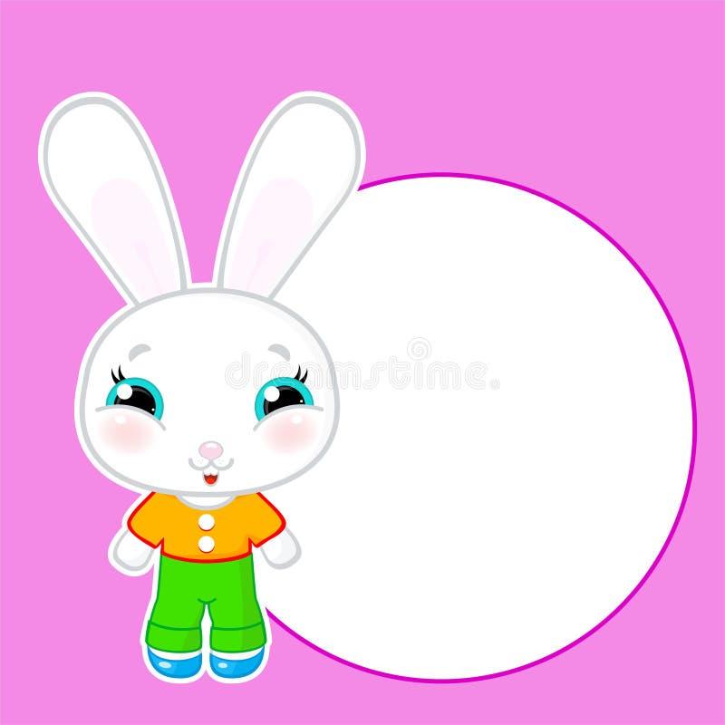 Śliczny wektorowy kawaii królik royalty ilustracja