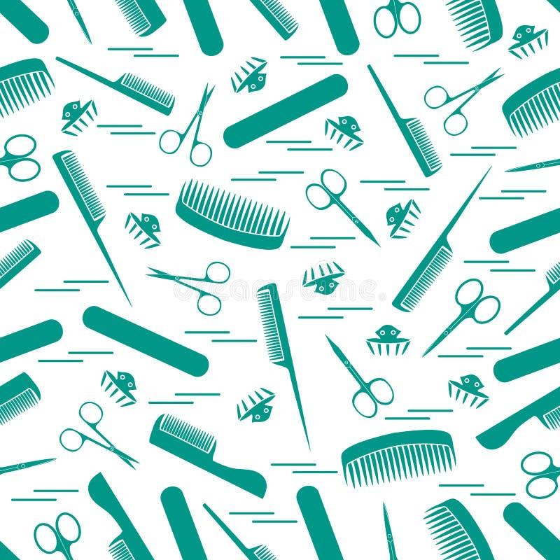 Śliczny wzór nożyce dla manicure'u i pedicure'u, gręple, gwóźdź royalty ilustracja