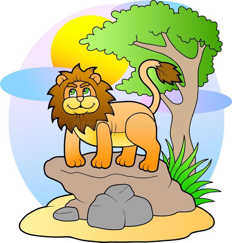 Śliczny zabawkarski lew royalty ilustracja