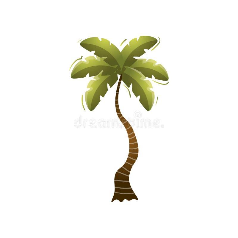 ?liczny zieleni pla?y drzewko palmowe na odosobnionej wyspie royalty ilustracja