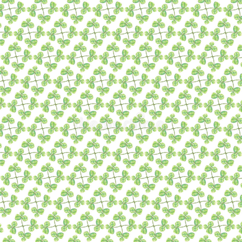 Śliczny Zielony liścia wzór na białym tle obrazy royalty free