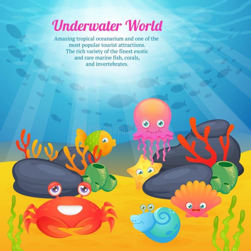 Ślicznych zwierząt podwodni mistrzostwa świata ilustracji
