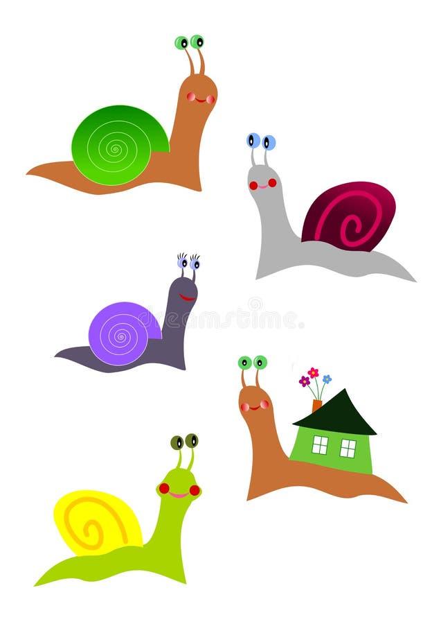 ślimaczki ilustracji