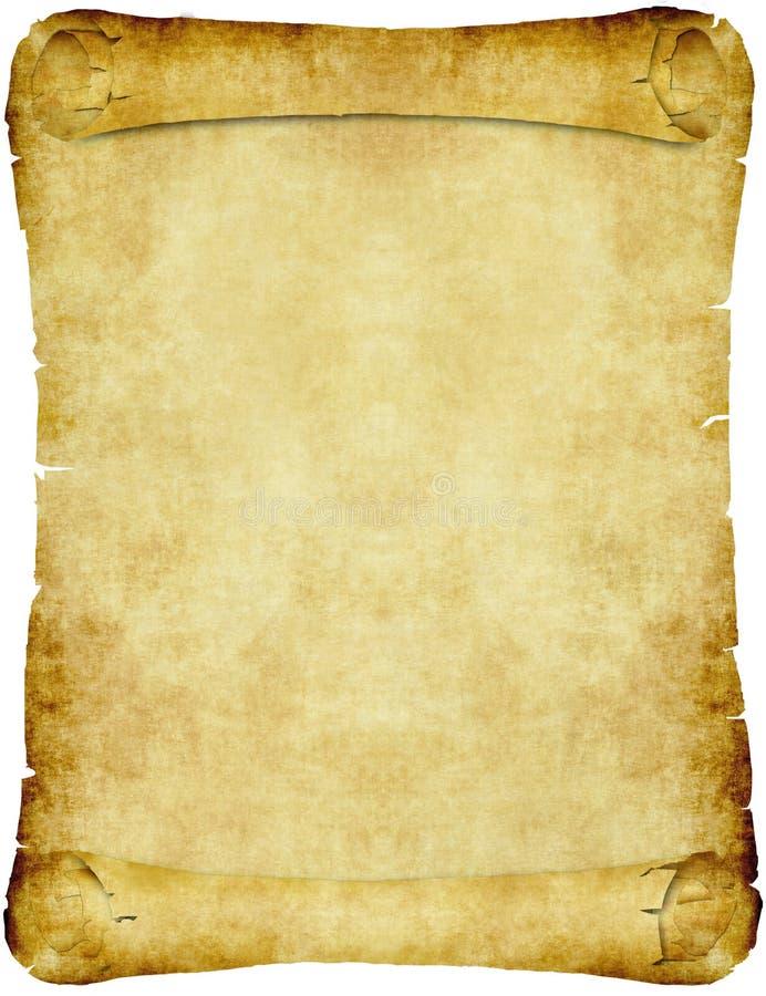 ślimacznica papierowy pergaminowy rocznik royalty ilustracja