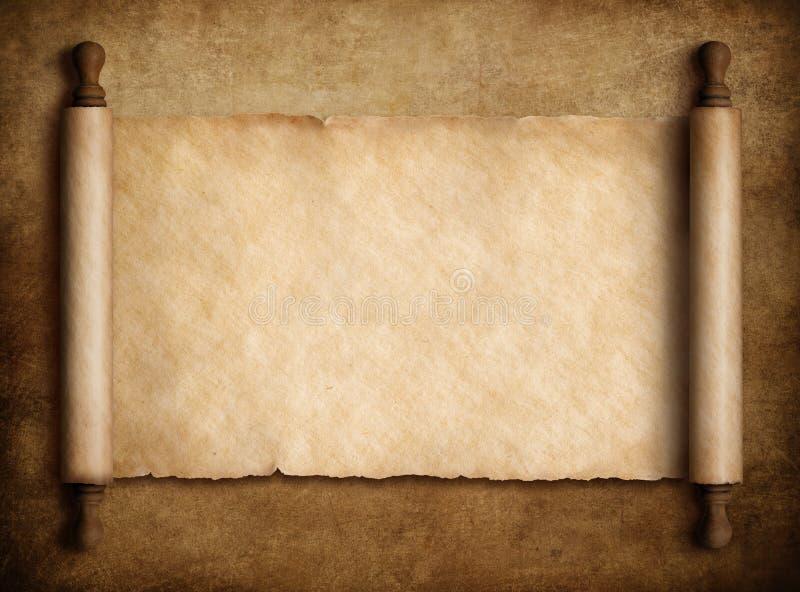 Ślimacznica pergamin nad starą papierową tła 3d ilustracją royalty ilustracja