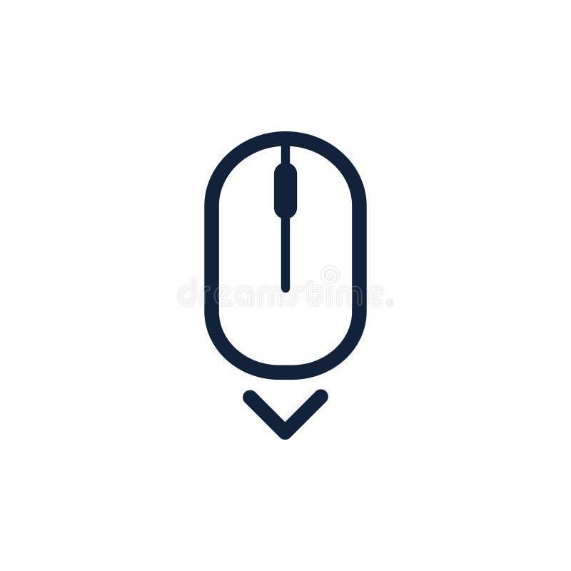 Ślimacznica puszek w górę komputerowego myszy ikony symbolu Mieszkanie stylu projekt również zwrócić corel ilustracji wektora royalty ilustracja