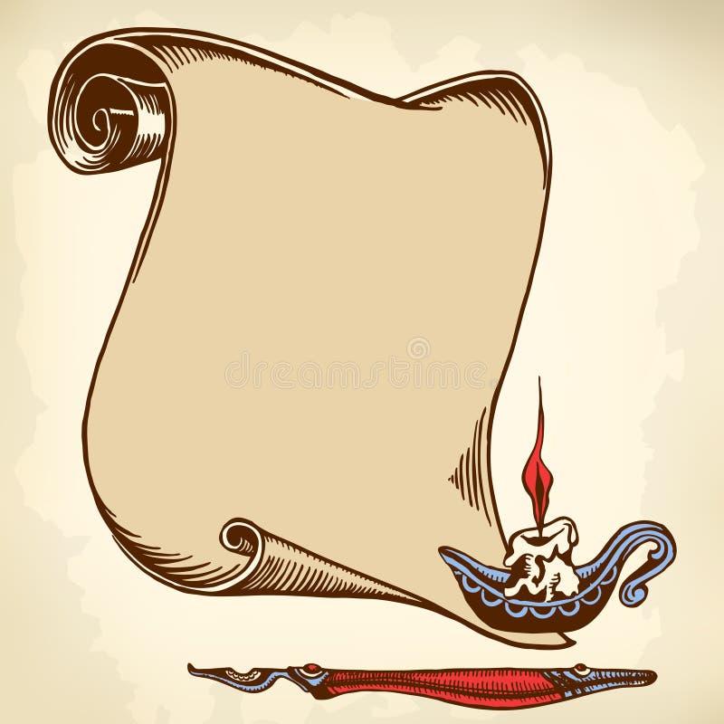 Ślimacznica stary papier ilustracja wektor